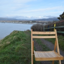 Looking out over Borth