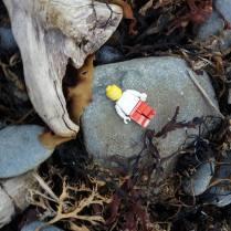 Lego-man washed up on Beach