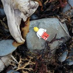 Lego-man washed up on Beach